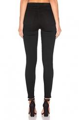 H HIAMIGOS Jeans Donna Skinny a Vita Alta Pantaloni Elasticizzati in Denim Elastico Nero 38 40 - 1