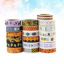 Healifty 10PCS Washi tape Halloween a tema decorativo mascheratura per DIY arti scrapbooking Craft regalo (modello casuale) - 1