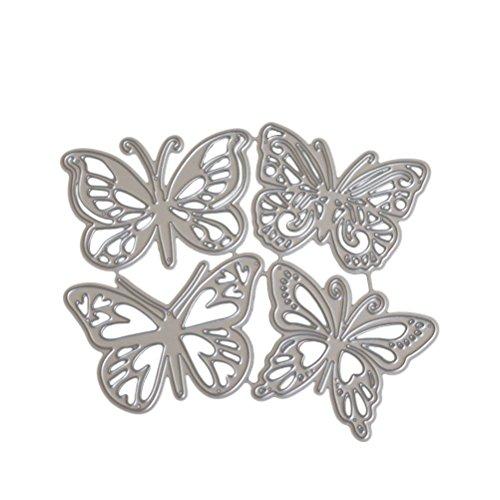 Healifty Fustella a forma di farfalle in acciaio - 1