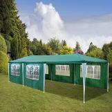 HG®Gazebo Tenda a cupola per le feste, in polietilene, con staffe in acciaio, con 6 pannelli laterali e 2 ingressi, impermeabile, con 6 lati rimovibili - 1