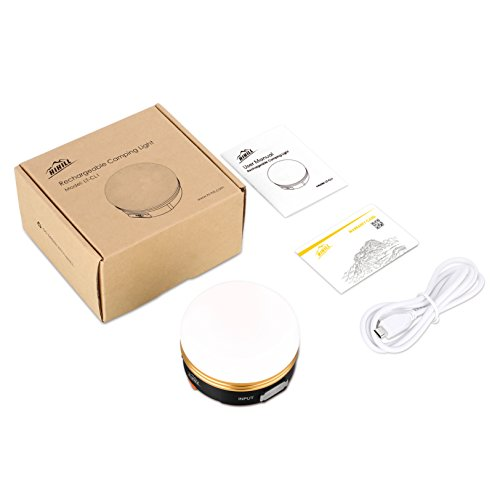 HiHiLL Lampade da Campeggio, Lanterna LED Ricaricabile, Esterna Portatile Resistenza alla Pioggia con 3 Modalità per Pesca Trekking Escursione e Emergenza - 1