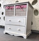 Home Delights Cassettiera cassetti in vimini rosa Girls mobili shabby chic - 1