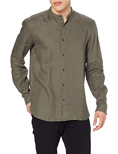 HUGO Eddison-w, Camicia Uomo, Marrone (Medium Brown 217), X-Large - 1