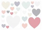 I-love-Wandtattoo Adesivo murale Set Camera Bambini Pastello Cuori Elegante in Colori Vivaci pezz - 1