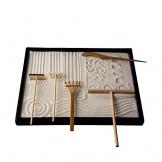 Icnbuys professionale mini strumenti da giardino Zen set tre rastrelli One Bamboo disegno penna One spingendo Sand penna - 1
