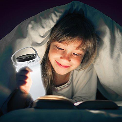 igadgitz Lumin Solar Glow 100lm Batteria Ricaricabile USB e Energia Solare Lanterna da Campeggio Lampada LED Resistente all Acqua Bottiglia Contenitori di Stoccaggio con 2 Anni di Garanzia - Bianco - 1