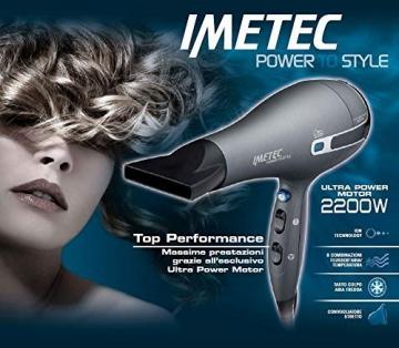 Imetec Power To Style K5 2200 Asciugacapelli 2200 W, Tecnologia a Ioni per Idratare i Capelli e Ridurre l'Effetto Crespo, 8 Combinazioni Aria/Temperatura, Colpo di Aria Fredda, senza Diffusore - 7