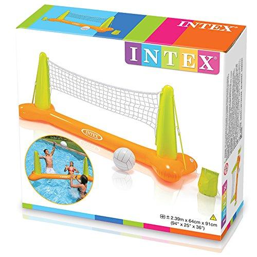 Intex-56508 Gioco Volley Galleggiante, Colore Giallo/Verde, 239 x 64 x 91 cm 56508 - 1