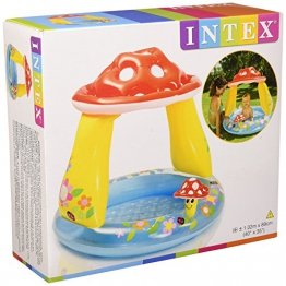 Intex 57114 - Piscina Baby Fungo, 102 x 89 cm, Blu/Rosso - 1