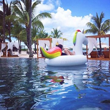 5944b2c1fbd164 Jasonwell Gonfiabile Unicorno Giocattoli Piscina Galleggiante per Bambini  Ragazze Adulti Estate Nuoto Giocattolo per Festa in