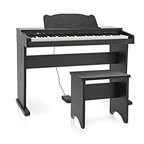 JDP-1 Junior Pianoforte Digitale da Gear4music Nero Opaco - 1