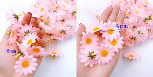 JZK 100 Margherita gerbera bianca finta fiorellini finti bomboniere coriandoli decorazione tavola matrimonio cerimonia Natale fiore artificiale corolla fiore stoffa - 1