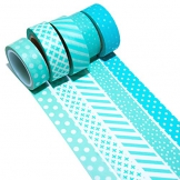 K-LIMIT 5 Set Washi Tape rotoli di nastro adesivo masking tape scrapbooking, DIY 9692 - 1