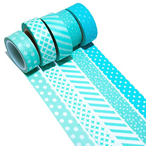 K-LIMIT 5 Set Washi Tape rotoli di nastro adesivo masking tape scrapbooking, DIY 9692 - 1