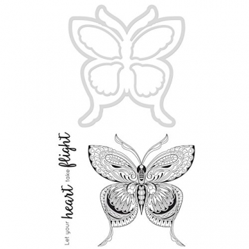 "Kaisercraft ""Butterfly Fustella Decorative e timbro, metallo - 1"