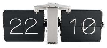 Karlsson KA5601BK, Orologio da Parete, Senza Cassa, in Metallo, Nero, 8,5x 36x 14cm - 1
