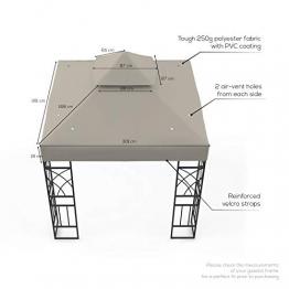 Kenley Telo di Ricambio Top di Copertura per Tetto Gazebo Giardino - 3 x 3m – Beige - 1