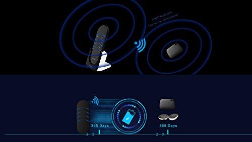 Key Finder Bluetooth Portachiavi Allarme Sonoro 80 Decibel Trova Cerca Chiavi Localizzatore Oggetti KIT 1 Telecomando + 4 Ricevitori Anti Lost Batterie Incluse Trasmissione 40 Metri Autonomia 1 Anno - 1