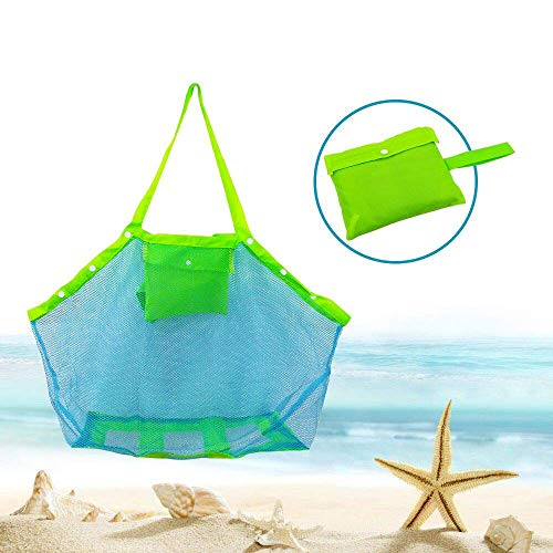 KidsHobby Extra Large Family maglia spiaggia borsa Tote zaino giocattoli asciugamani sabbia lontano - 1