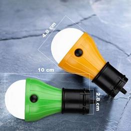 KOROSTRO Lampada LED da Campeggio, Campeggio Esterno Lampa Tenda Lampada d'Emergenza Portatile Lampadina per Campeggio Escursioni La Pesca Il Backpacking Tenda e Luce di Emergenza, Confezione di 2 - 1