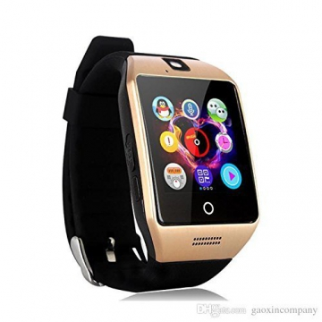 Kxcd Q18 Bluetooth Smartwatch orologio da polso supporto NFC fotocamera TF Card Smart Watch per Android Phone iOS iPhone Huawei Samsung oro - 1