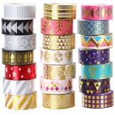 Lamina d' oro decorativo Washi tape set di 21rotoli, 15mm di larghezza nastro adesivo Collection per DIY Crafts Wrapping by Ieebee - 1