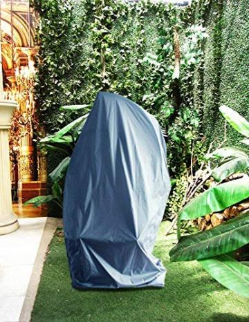 Laxllent Copertura della Sedia a Dondolo,Rattan da Giardino Wicker Coperture Mobili Impermeabili per Sedie sospese,216x185cm, Grigio (210D Oxford PU) - 2