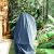 Laxllent Copertura della Sedia a Dondolo,Rattan da Giardino Wicker Coperture Mobili Impermeabili per Sedie sospese,216x185cm, Grigio (210D Oxford PU) - 1