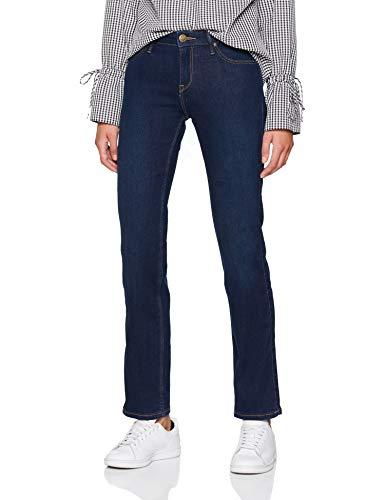 Lee Marion Straight Vq, Jeans Donna, Nero (Dark Used Vq), W33/L33 - 1