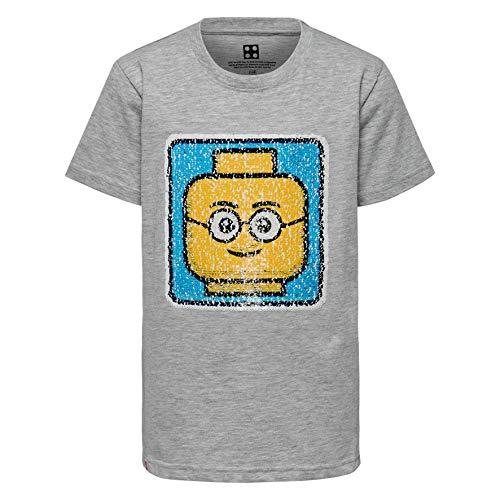 Lego Wear Boy Cm-50222 - T-Shirt, T-Shirt Bambino, Grigio (Grey Melange 912), 128 - 1