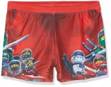 Lego Wear Boy Ninjago Cm-50201 - Badehose, Costume da Bagno Bambino, Rosso (Red 359), 122 - 1