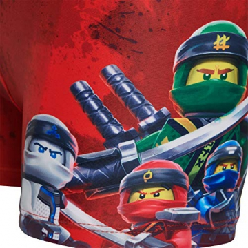 Lego Wear Boy Ninjago Cm-50201 - Badehose, Costume da Bagno Bambino, Rosso (Red 359), 122 - 3