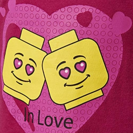 Lego Wear Girl - Cm-50126 Langarmshirt, Maglia a Maniche Lunghe Bambina, Rosa (Dark Pink 495), 104 - 1