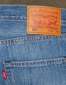 Levi's 501 Levi's Original Fit, Jeans Straight Uomo, Blu (Rocky Road Cool 2563), 36W / 34L - 1