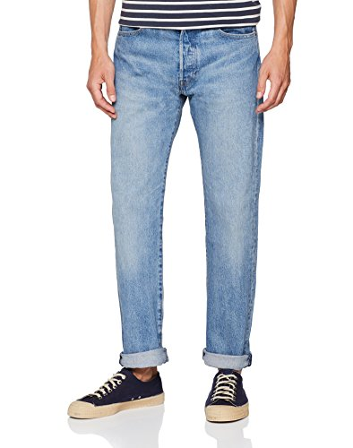 Levi's 501 Levis Original Fit, Jeans Straight Uomo, Blu (Baywater 2637), 34W / 36L - 1
