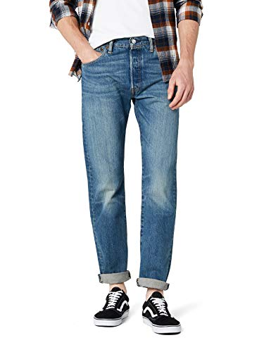 Levi'S 501 Original Straight Fit, Jeans Uomo, Blu (Hook 1307), W31/L30 - 1