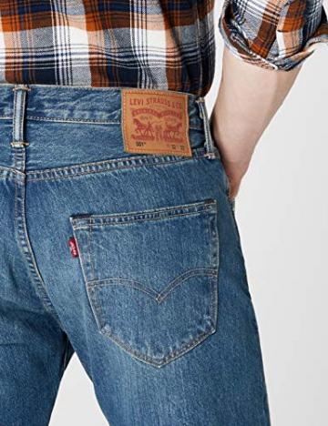 Levi'S 501 Original Straight Fit, Jeans Uomo, Blu (Hook 1307), W31/L30 - 3
