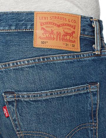 Levi'S 501 Original Straight Fit, Jeans Uomo, Blu (Hook 1307), W31/L30 - 6