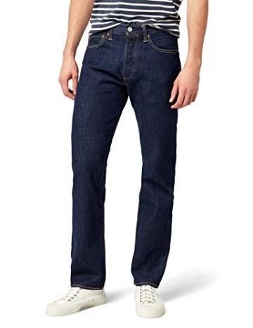 Levi's 501 Original Straight Fit, Jeans Uomo, Blu (Onewash 0101), W33/L30 - 1