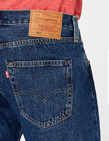 Levi'S 501 Original Straight Fit, Jeans Uomo, Blu (Stonewash 0114), W34/L32 - 4