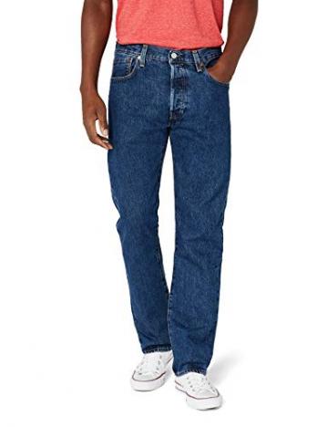 Levi'S 501 Original Straight Fit, Jeans Uomo, Blu (Stonewash 0114), W42/L32 - 1