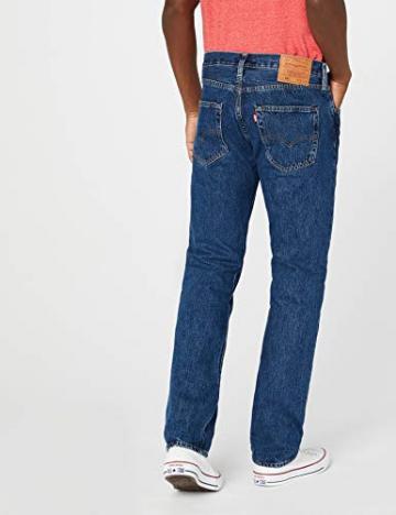 Levi'S 501 Original Straight Fit, Jeans Uomo, Blu (Stonewash 0114), W42/L32 - 3