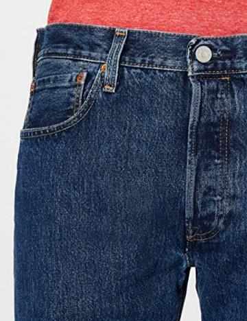 Levi'S 501 Original Straight Fit, Jeans Uomo, Blu (Stonewash 0114), W42/L32 - 5