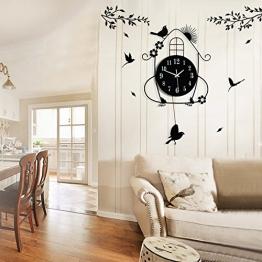 LifeUp- Pendolo con Uccellino cucù, Orologio da Parete Vintage Design Moderni Decorazioni Casa Silenzio, Regalo Originale Compleanno Natale , 70*36cm - 1