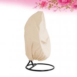 LIOOBO Patio Esterno Appeso Copertura della Sedia Heavy Duty Egg coperture Dell'Oscillazione coperture Antipolvere Esterno Giardino Impermeabile Protector (Beige) - 1