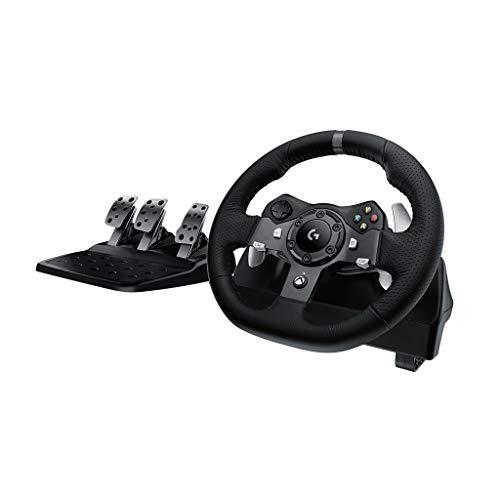 Logitech G920 Driving Force per Xbox One/PC, Nero - 1