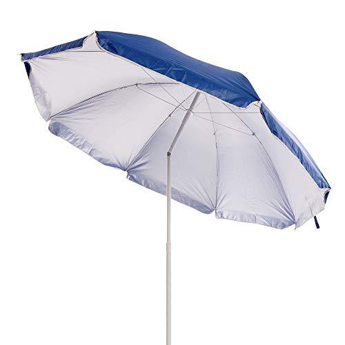 Lola Home - Ombrellone da spiaggia, pieghevole, in Nylon, 220 cm, colore blu, Garden - 1