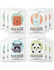 Lookatme Animal face mask - 12 Premium Cute Face Sheet Masks For Purifying, Energizing, Smoothing, Moisturizing. Awesome Korean skin care - 1