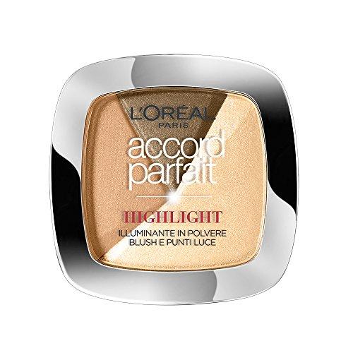 L'Oréal Paris Accord Parfait Cipria Illuminante, 102 Dorato - 1