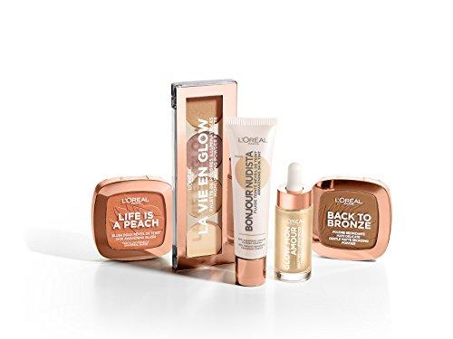 L'Oréal Paris Blush in Polvere Life's a Peach, Pelle Idratata, Effetto Radioso con Estratto di Pesca, 01 Eclat Pêche - 1
